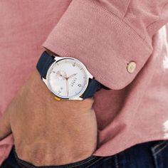 Farer Watch - Meakin - White Subdial + Date - 39.5mm Case – Farer EUR