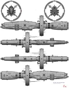 Sci-fi concept space ship art - spaceship
