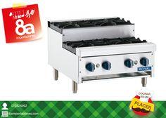 8a Importaciones tiene dos modelos de cocinas para tu negocio, de 2 y 4 quemadores, hechas de acero inoxidable. Los equipos de cocina que necesitas lo tenemos en: Manuel Vega 8-48 y Mariscal Sucre.
