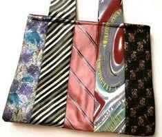 Bolso corbatas recicladas