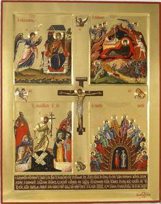 Religious Images, Religious Icons, Religious Art, Byzantine Art, Byzantine Icons, Catholic Catechism, Marie Madeleine, Crucifixion Of Jesus, Jesus Christ