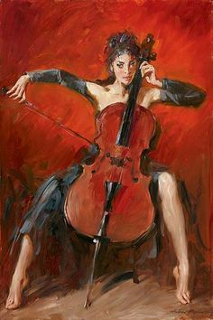 Pulsing Life - Red Symphony painting by Andrew Atroshenko.