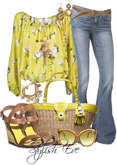 i love yellow Chic Outfits, Fashion Outfits, Womens Fashion, Fashion Trends, Spring Summer Fashion, Spring Outfits, Look 2017, Parisian Chic Style, Stylish Eve