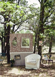 DIY déco mariage photobooth champêtre