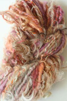 Ozark Handspun Yarn in Golden Maroon - wool and mohair blend handspun yarn Spinning Yarn, Hand Spinning, Hair Yarn, Fabric Manipulation, Beautiful Hands, Fiber Art, Crocheting, Boho Chic, Needlework