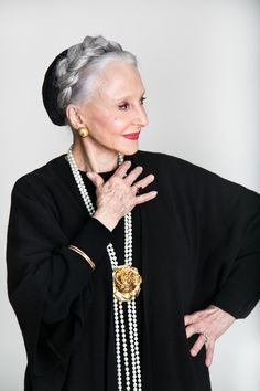 Joyce Carpati Young -- she is in her 80s, a former opera singer. Oh my she is a hero to me! ~~ Mature Fashion - Senior Style Stars