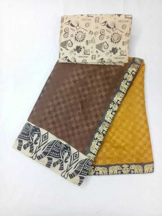 Beautiful semi silk saree with shaded chex +kalamkari blouse.