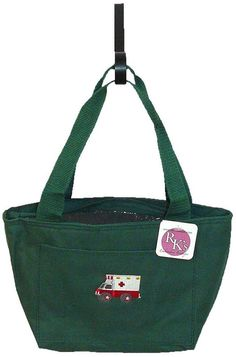 Ambulance Cooler Bag Green Insulated Lunch Pail Emergency Paramedic Monogram NWT #LibertyBags