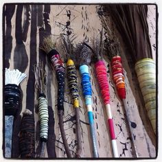 My collection of hand made brushes Lorna Crane  AUSTRALIA