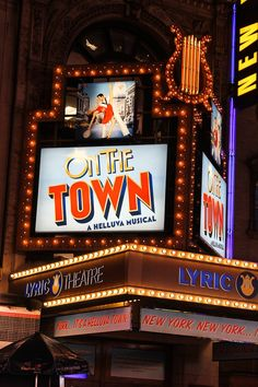 ON THE TOWN- Want to see this show so much it's ridiculous!!