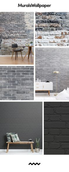 Grey wallpaper can easily become very dull and boring, but one way to spruce up . Grey wallpaper can easily become very dull and boring, but one way to spruce up a space, whilst maintaining the grey