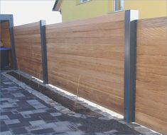 Vorgarten Zaun privacy-wood-metal-carport-extension-larch-height-gray-white privacy-frame-wood-metal-carport-extension-larch-height-gray-white-out-of-. Diy Fence, Fence Landscaping, Backyard Fences, Fence Garden, Timber Fencing, Metal Fence, Wood And Metal, Wood Fences, Wood Fence Design