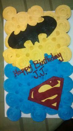 Batman vs superman pull apart cake by sara