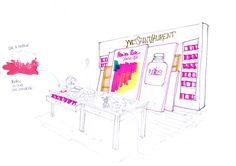 Design-retail-Podium yves saint laurent-Paris Premieres Roses-Que Houxo_By Leonard El Zein_05