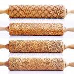 New Laser Engraved Rolling Pins by Valek Imprint Elaborate Designs on Baked Goods