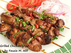 One of the most delicious ways of preparing grilled/barbequed chicken liver