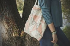 tote bag/ triangle