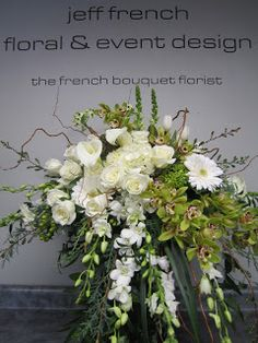 Funeral arrangement by Jeff French Floral and Event Design Church Flowers, Funeral Flowers, Wedding Flowers, Funeral Caskets, Casket Flowers, Funeral Floral Arrangements, Memorial Flowers, Memorial Plants, Casket Sprays