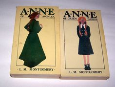 2 Vintage 1968 Anne of Green Gables and Anne of Avonlea Books
