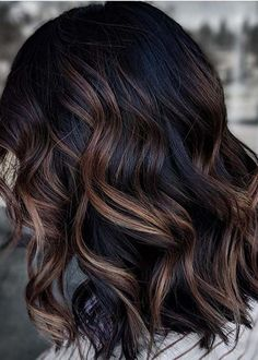 Modern Balayage Dark Hair Color Ideas for Women in 2020 We can be unable to Dark Brunette Balayage Hair, Dark Balayage, Hair Color Balayage, Hair Color Brunette, Curly Balayage Hair, Babylights Brunette, Balayage Straight, Hair Color And Cut, Hair Color Dark