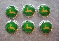 John Deere green farm boy sealed bottlecaps