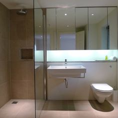 wet room with glass divider