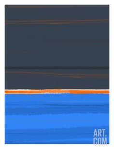Stripe Orange Art Print by NaxArt at Art.com