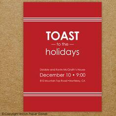 Holiday Party-- Christmas party invitation. $15.00, via Etsy.