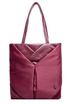 Generic Women's All-occasion Red Leather Handbag Small * Click on the image for additional details.