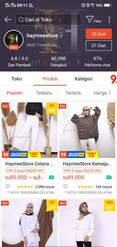 Best Online Clothing Stores, Online Shopping Sites, Online Shopping Clothes, Online Shop Baju, Casual Hijab Outfit, Fitness Workout For Women, Trendy Outfits, Fit Women, Shops