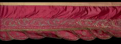 An Ottoman metal thread embroidered silk Pelmet Turkey, 19th Century