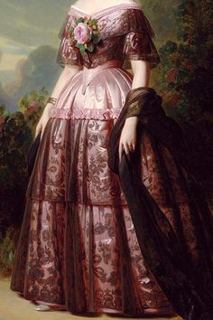 INCREDIBLE DRESSES IN ART (26/∞)Princess Maria Carolina Augusta of Bourbon by Franz Xaver Winterhalter