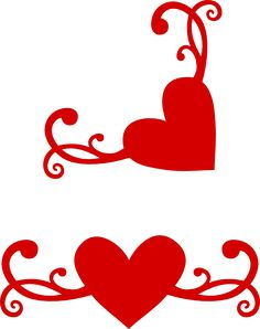 Another flourish heart with matching corner free svg cutting file