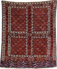 Yomud 'Ensi', Turkmenistan, late 19th century, wool/wool, approx. 170 x 145 cm