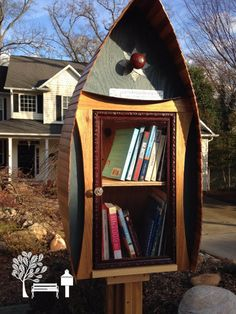 Yvonne Vance. Greenville, SC. I owe it all to my son who gave us our Little Library as a fiftieth anniversary gift! You can't see it in the picture, but in the back is an opening for birds to build a nest. His other creation is at our home in Asheville, North Carolina. I love the idea of sharing and meeting neighbors through books!