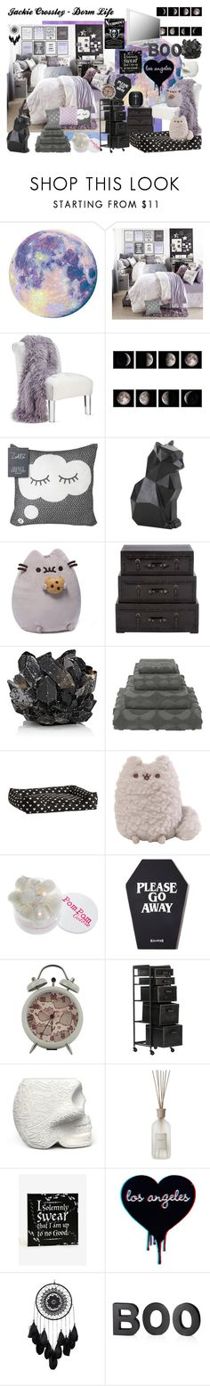 """""""Jackie Crossley - Dorm Life"""" by irdustybird ❤ liked on Polyvore featuring interior, interiors, interior design, home, home decor, interior decorating, Hot Topic, McCoy Design, Orla Kiely and PBteen"""