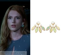 """Paige Townsen (Bella Thorne) wears these pearl earrings in this episode of Famous in Love, """"Pilot"""". It is the Lionette by Noa [...]"""