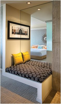 Nook Bench | Tower Suite at The Tower at Hotel Valley Ho Scottsdale