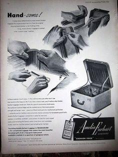1948 Vintage AMELIA EARHART Luggage Suitcase Ad