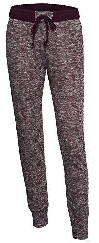 000e5d6a Women's Classic Elastic Drawstring Heathered Lounge Casual Slim Fit Jogger  Pants >>>