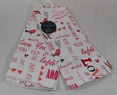 Cynthia Rowley Set of 2 Kitchen Towels Love Hearts & Birds Design Kitchen Linens Sets, Kitchen Towels, Bird Design, Cynthia Rowley, Love Heart, Hearts, Birds, Amazon, Kitchen Playsets