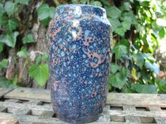 Vintage Fat Lava Vase – Scheurich 231 15 – 1950s 1960s Sixties – West German Pottery – WGP – Mid Century Design – turquoise blue rose-gold von everglaze auf Etsy