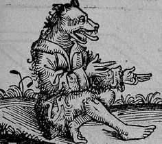 """Wulver: The Wulver was a creature like a man with a wolf's head. He had short brown hair all over him. His home was a cave dug out of the side of a steep knowe, half-way up a hill. He didn't molest folk if folk didn't molest him. He was fond of fishing, and had a small rock in the deep water which is known to this day as the """"Wulver's Stane"""". There he would sit fishing sillaks and piltaks for hour after hour. He was reported to have frequently left a few fish on the window-sill of some poor…"""