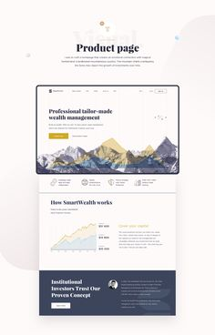 SmartWealth is a Robo-advisor that provides financial advice and offers portfolio management services. Planning Applications, Visualization Tools, Portfolio Management, Fashion Graphic Design, Information Architecture, Web Inspiration, Wealth Management, Sound Design, Interactive Design