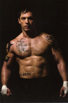 """In the movies """"Bronson"""", """"Warrior"""" and """"The Dark Knight Rises"""" Tom Hardy played the role of very strong and muscular characters. Description from nattyornot.com. I searched for this on bing.com/images"""