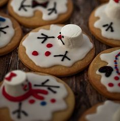 Melting Snowmen Cookies~super cute for the holiday charters in your future.  Christmas is 98 days away.