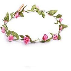 Poppy Daisy Pink Flower Garland Headband