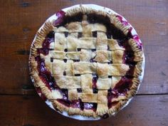 cranberry-blueberry holiday pie