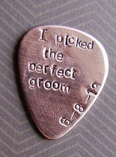 Groom Gift I Do Wedding Custom Guitar Pick by SoBlessedDesigns, $18.00