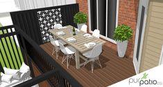 Terrasse privée Laval - Pur Patio Veranda Design, Terrasse Design, Deck Design, House Design, Gazebo, Backyard Patio, Backyard Ideas, Outdoor Furniture Sets, Outdoor Decor